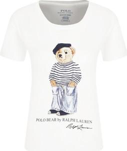 T-shirt POLO RALPH LAUREN w młodzieżowym stylu z okrągłym dekoltem z krótkim rękawem