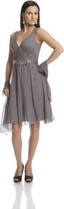 Sukienka Fokus z jedwabiu z dekoltem w kształcie litery v