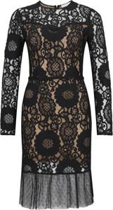Sukienka Silvian Heach z długim rękawem midi z okrągłym dekoltem