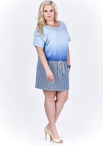Sukienka Fokus z krótkim rękawem z tkaniny mini
