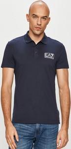 Koszulka polo Emporio Armani z dzianiny z krótkim rękawem