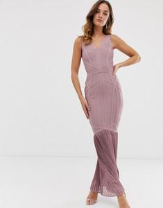 Fioletowa sukienka Lipsy z dekoltem w kształcie litery v