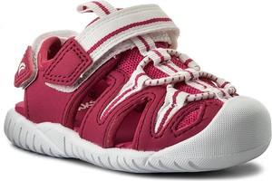 Buty dziecięce letnie Clarks z płaską podeszwą ze skóry ekologicznej