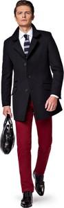 Czarny płaszcz męski LANCERTO
