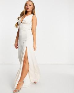 Sukienka Tfnc z dekoltem w kształcie litery v maxi