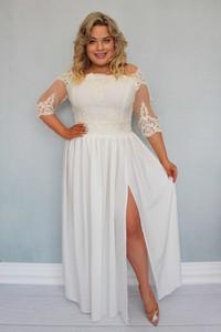 Sukienka KARKO dla puszystych maxi z tkaniny
