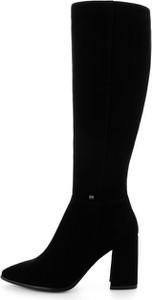 Czarne kozaki Prima Moda na zamek przed kolano