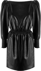 Czarna sukienka Philosophy di Lorenzo Serafini z długim rękawem mini