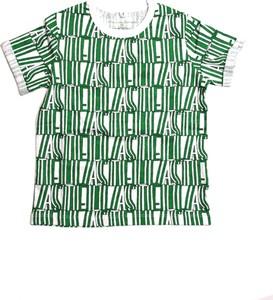 Zielona koszulka dziecięca Stella McCartney z bawełny dla chłopców