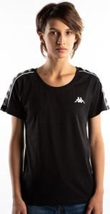 Czarny t-shirt Kappa w młodzieżowym stylu