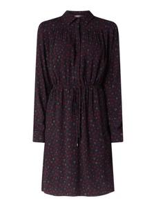 Granatowa sukienka Jake*s Collection z długim rękawem w stylu casual
