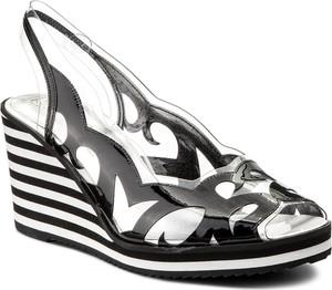 Sandały azurée w stylu glamour z klamrami
