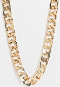 ASOS DESIGN Curve – Naszyjnik z kwadratowych ogniw w kolorze złota-Złoty