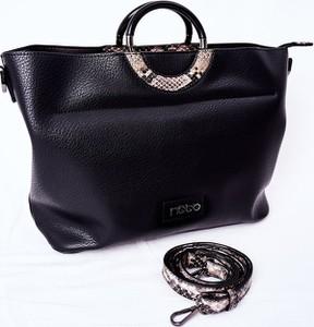 Czarna torebka NOBO ze skóry ekologicznej w stylu glamour na ramię
