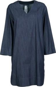Sukienka MaxMara z dekoltem w kształcie litery v z długim rękawem z bawełny