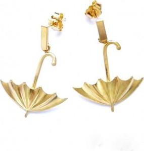 Venus Galeria Kolczyki srebrne - Złote parasolki małe