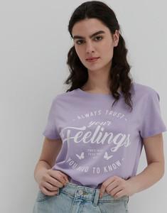 Fioletowa bluzka House w młodzieżowym stylu
