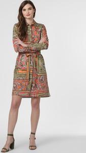 Sukienka 0039 Italy mini koszulowa z długim rękawem