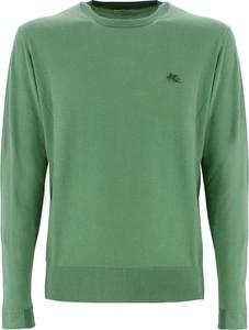 Zielony sweter Etro z okrągłym dekoltem