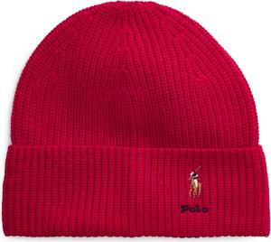 Czerwona czapka Ralph Lauren