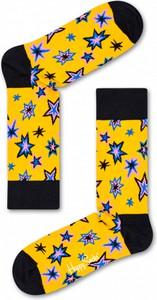 Żółte skarpetki Happy Socks w stylu casual