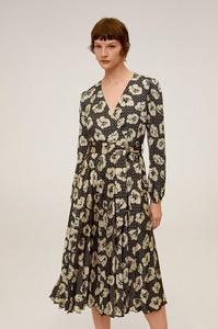 Sukienka Mango midi z dekoltem w kształcie litery v
