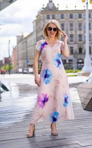 Sukienka Kaskada z jedwabiu