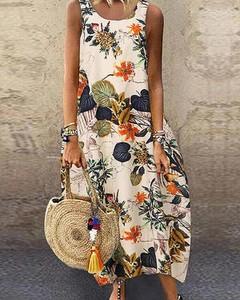 Sukienka Kendallme z okrągłym dekoltem maxi oversize