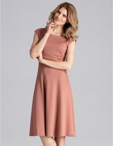 Brązowa sukienka Figl midi