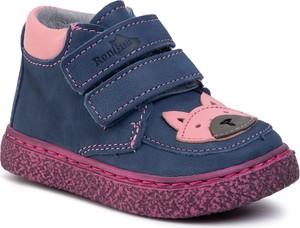 Buty dziecięce zimowe RenBut z jeansu na rzepy