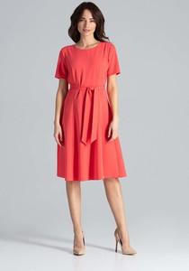 Czerwona sukienka Katrus midi