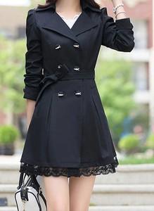 Czarny płaszcz Arilook w stylu casual