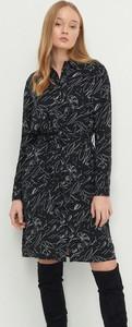 Czarna sukienka House trapezowa