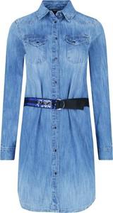 Sukienka Guess Jeans w stylu casual koszulowa z długim rękawem