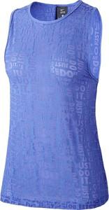 Bluzka Nike z okrągłym dekoltem z tkaniny