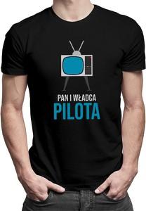 Czarny t-shirt Koszulkowy z nadrukiem