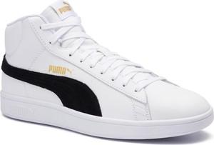 Sneakersy PUMA - Smash v2 Mid L 366924 05 White/Black/Gold/High Rise