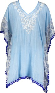 Niebieska bluzka Dress You Up z długim rękawem