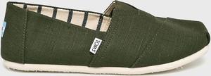 Zielone buty letnie męskie Toms