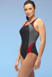 Winner damski kostium kąpielowy alinka2 jednoczęściowy czarno-czerwony