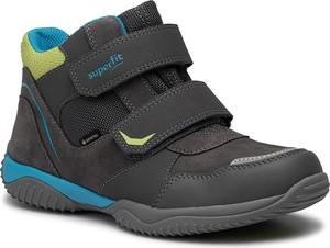 Buty dziecięce zimowe Superfit z goretexu na rzepy