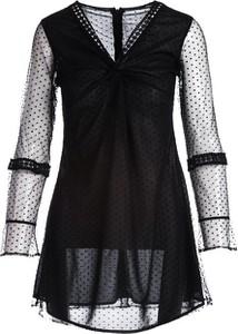 Sukienka Multu z długim rękawem z dekoltem w kształcie litery v mini
