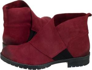 Czerwone botki Maciejka w stylu casual