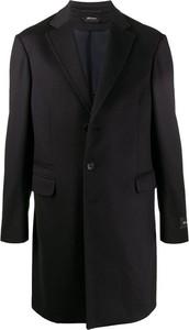 Czarny płaszcz męski Z Zegna z wełny