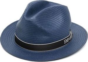 Niebieska czapka Emporio Armani
