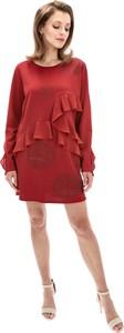 Czerwona sukienka Desigual prosta mini