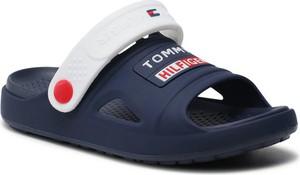 Granatowe buty dziecięce letnie Tommy Hilfiger dla chłopców