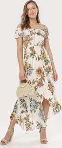 Sukienka born2be w stylu boho z krótkim rękawem maxi