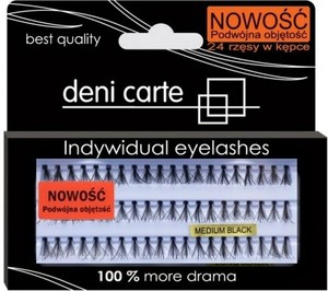 Deni Carte Indywidual eyelashes Kępki rzęs D-M Medium Black