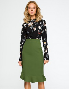 Zielona spódnica MOE midi